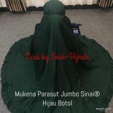 Jual Mukena Parasut Jumbo Sinai Hijau Botol Original