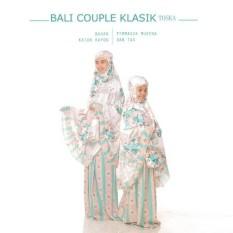 Mukena Pasangan / Couple Katun Adem Ibu Dan Anak Warna Tosca