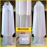 Jual Beli Mukena Putih Katun Rayon Polos Lis Pita Mu432A Pita Putih