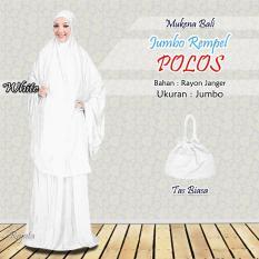 Mukena Rayon Bali Ukuran Jumbo Warna Polos Putih