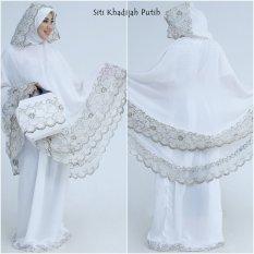 Jual Mukena Siti Khadijah Putih Elegant Di Bawah Harga