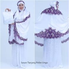 Mukena Susun Tanjung Polos Ungu Terbaru