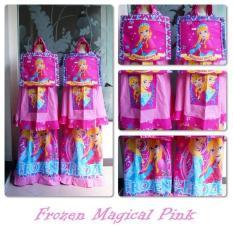 Review Mukena Telekung Rukuh Anak Karakter Frozen Magical Story Pink