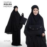 Penawaran Istimewa Mukena Telekung Rukuh Dewasa Umrah Katun Rayon Polos Premium Hitam Terbaru