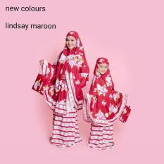 Toko Mukena Telekung Rukuh Kembar Couple Ibu Anak Tk 2 5Tahun Katun Merah Multi Di Indonesia