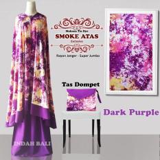 Mukena Tie Dye Smoke Atas Exclusive Dark Purple