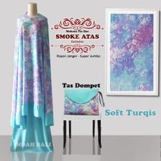 Mukena Tie Dye Smoke Atas Exclusive Soft Turqis