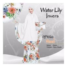 Jual Mukena Water Lily Invers Off White Peach Lengkap
