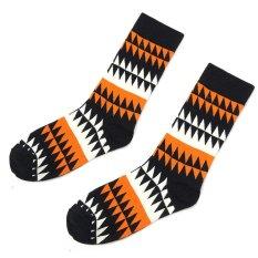 Pria Wanita Warna Happy Cotton Socks Desain Fashion Gaun Pria Kaus Kaki Wanita-Intl