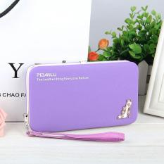 Jual Multi Function Woman Long Wallet Mobile Phone Bag Purple Oem Asli