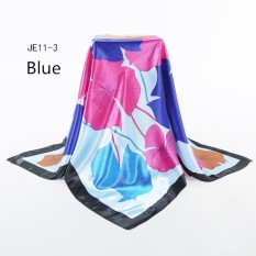 Multicolor Floral Peony Silk Scarves Head Shawl Cashmere Pashima Hijab Scarf Spring Autumn Women Square Scarves Wraps Chinese Style Silk Shawl Cashmere Pashima Hijab Scarf Cape 100*100cm - intl
