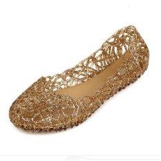 Miliki Segera Warnawarni Panas Wanita Ventilasi Crystal Jelly Dicungkil Sandal Sepatu Datar Intl