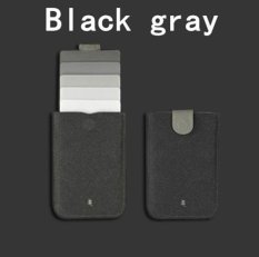 Multifunction Waterproof Card Holder Stack Up Pull Out Slim Wallet Cascading Travel Case Wallet Pack Black Grey - intl