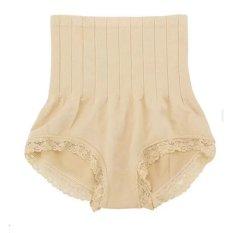 Munafie Korset Celana Pelangsing Tubuh Wanita Renda Pengecil Pengencang Pantat Badan Ideal Perut Ramping Slimlift Seksi Body Slim Diet Slimming Nyaman Aman - Beige
