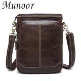 Beli Munoor 100 Kulit Sapi Asli Bag Bag Shoulder Crossbody Tas Pria Travel Messenger Bags Intl Cicilan