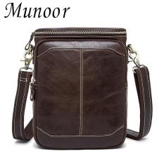 Jual Munoor 100 Kulit Sapi Asli Bag Bag Shoulder Crossbody Tas Pria Travel Messenger Bags Intl Termurah