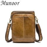 Diskon Produk Munoor 100 Kulit Sapi Asli Bag Bag Shoulder Crossbody Tas Pria Travel Messenger Bags Intl
