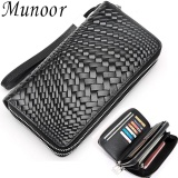 Spesifikasi Munoor Genuine Cow Leather Mens Clutch Wallet Casual Coin Pouches Dompet Pria Vi Nam Giới กระเป๋าสตางค์ชาย Intl Online