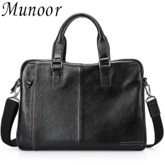 Munoor High Quality Genuine Leather Men Shoulder Bags Messenger Begs Kulit Asli tas หนังแท้ กระเป๋าผู้ชาย túi người đàn ông