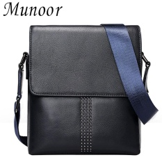 Munoor High Quality Genuine Leather Messenger Bags Business Shoulder Begs Kulit Asli tas หนังแท้ กระเป๋าผู้ชาย túi người đàn ông