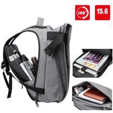 Munoor Kualitas Tinggi Pria Anti-pencurian 15.6 Inch Ransel USB Pengisian Port Business Travel Laptop Tas Sekolah College Bag Daypack (Grey)