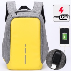 Toko Munoor Unisex Anti Theft Ransel Usb Pengisian Port Business Travel 14 Inch Laptop Tas Sekolah Kuliah Kuning Intl Termurah Tiongkok