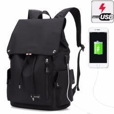 Spesifikasi Munoor Unisex Ransel Eksternal Usb Pengisian Port Business Travel 15 6 Inch Laptop Tas Sekolah Kuliah Hitam Intl Terbaru
