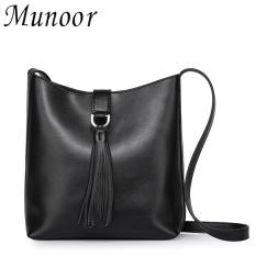 Harga Munoor Women Crossbody Bags 100 Genuine Leather Shoulder Bags Kulit Tulen Kulit Asli Da Chinh Hang หนังแท้ Intl Munoor Terbaik