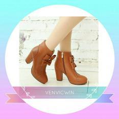 Beli Murah Meriah Sepatu Boot High Heels Ls 09 Tan Cicil