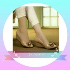 Murah Meriah Wedges Pita Polkadot Cream