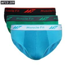 Muscle Fit Celana Dalam Pria Briefs MFCD-209- 3 pcs - Multiwarna