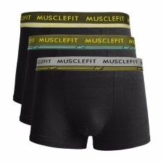 Jual Muscle Fit Celana Dalam Pria Mfbx 110 Boxer 3 Pcs Hitam Online Di Jawa Timur