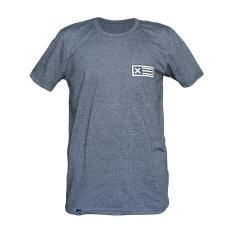 Muscle Fit Kaos Oblong Lengan Pendek Unisex O-Neck T-Shirt MF-065 Bendera X – Misty Abu