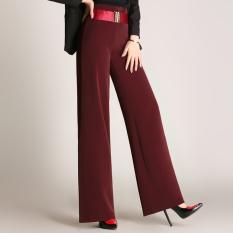 Beli Musim Gugur Baru Celana Panjang Lebar Kaki Celana 902 Merah Marun Nyicil