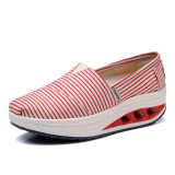 Spesifikasi Musim Semi Baru Sepatu Kanvas L3301 Merah Bergaris Baru