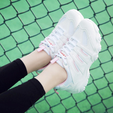 Jual Sepatu Olahraga Wanita Versi Korea Bubuk Putih Korea Fashion Style Bubuk Putih Korea Fashion Style Oem Murah