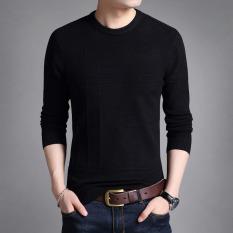 Jual T Shirt Musim Gugur Baru Merajut Kemeja Korea Fashion Style Warna Solid Hitam Other Di Tiongkok