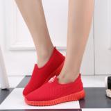 Kebugaran Musim Semi Dan Musim Gugur Baru Mudah Dipakai Sepatu Wanita 6622 Merah Asli