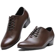 Musim Semi atau Musim Gugur Baru Gaun Pengantin Studio Kamera Sepatu Pria (6308 Warna Tidak Mengkilap Coklat)