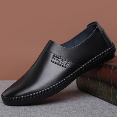 Beli Musim Gugur Baru Pria Kasual Sepatu Kulit Hitam Set Kaki Sepatu Pria Sepatu Kulit Sepatu Kerja Sepatu Formal Pria Nyicil