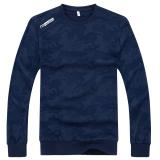 Beli Musim Gugur Baru Pria Katun Leher Bulat Sweater Biru Other Online