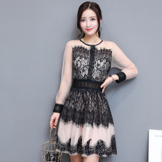 Katalog Musim Gugur Baru Renda A Rok Kata Hitam Baju Wanita Dress Wanita Gaun Wanita Oem Terbaru