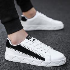 Sepatu Kanvas Pria Gaya Korea Jaman Sekarang (Putih) (Putih)