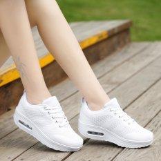Harga Kasual Bernapas Jala Sol Tebal Sepatu Goyang Jala 706 Putih