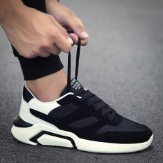 Sepatu Kets Pria Kain Kanvas Santai Versi Korea (D9863-Hitam Dan Putih) (D9863-Hitam Dan Putih)