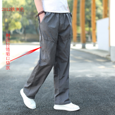 Jual Celana Panjang Musim Panas Muda Celana Cargo Pria Ukuran Besar 2012 Besi Abu Abu Import