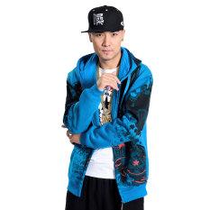 Gemuk Panggul Hop Besar Ukuran Besar Remaja Kaos Sweater (Langit Biru)
