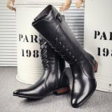 Inggris Menunjuk Suasana Sepatu Boots Sepatu Laki Laki Hitam Tinggi Total 42 Sentimeter Nelly Katun Oem Diskon 40