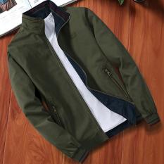 Jual Musim Gugur Dan Musim Dingin Kapas Musim Gugur Yard Besar Bagian Tipis Jaket Jaket Pria Jaket 0019 Hijau Tentara Kerah Stand Up Jaket Pria Jaket Bomber Baru