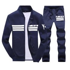 Ulasan Musim Gugur Dan Musim Dingin Kasual Pria Ukuran Plus Kode Laki Laki Korea Fashion Style Jas Lengan Panjang Kaos Sweater Biru Tua Warna Baju Atasan Sweter Pria